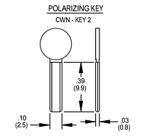 Polarizing Key - CWN - KEY 2
